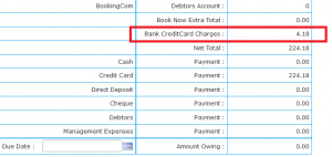 Credit Card charges 2